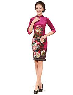 Szoknya Klasszikus és hagyományos Lolita Cosplay Lolita ruhák Rózsaszín Régies (Vintage) 3/4-es ujj Rövid hosszú Mert Selyem