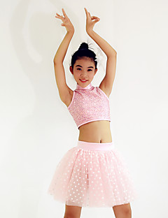 Ballet Outfits Women's / Children's Performance Spandex / Sequined Draped / Polka Dots 3 Pieces Pink