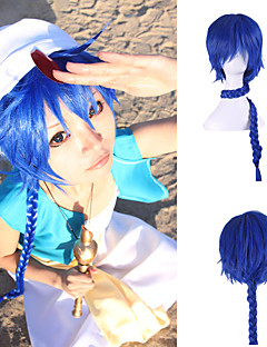 Cosplay Suits MAGI Cosplay Blue Long Anime Cosplay Wigs 80CM CM Heat Resistant Fiber Unisex