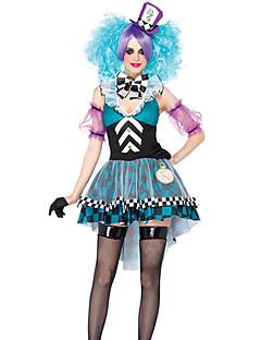 Cosplay Kostýmy Maškarní Kostým na Večírek Burlesque/Klaun Festival/Svátek Halloweenské kostýmy Patchwork Šaty Více doplňků Halloween
