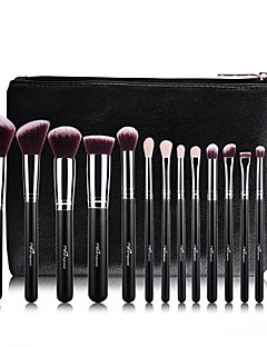 15Pcs Wool Rose Gold Makeup Brush Sets MAC Makeup Style