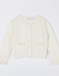 Mädchen Pullover & Cardigan-Lässig/Alltäglich einfarbig Baumwolle Herbst Weiß