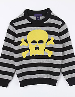 Boy's Casual/Daily Striped Sweater & Cardigan,Cotton Fall Black