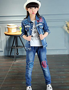 Girl's Casual/Daily Galaxy JeansCotton Spring / Fall Blue