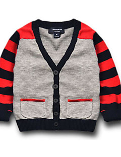 Boy's Casual/Daily Striped Sweater & CardiganCotton All Seasons Gray