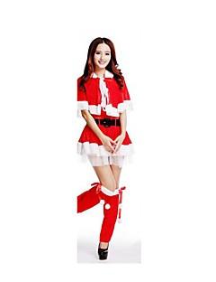 Festival/Højtider Halloween Kostumer Rød Ensfarvet Nederdel / Bælte / Strømpebånd Jul Kvindelig Pleuche