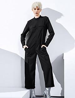 Damen Jumpsuits - Einfach Langarm Kunstseide / Polyester / Elasthan Unelastisch