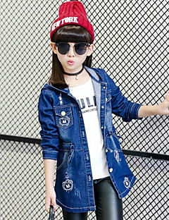 Girl's Casual/Daily Solid Suit & Blazer,Cotton / Spandex Spring / Fall Blue
