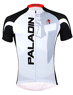 ILPALADINO Cycling Jersey Men's Short Sleeve Bike Jersey Tops Quick Dry Ultraviolet Resistant Front Zipper Breathable Back Pocket