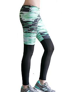 ヨガパンツ サイクリングタイツ ボトムズ 速乾性 絶縁 ビデオ圧縮 快適 ローウエスト 高弾性 スポーツウェア グリーン 女性用 ヨガ ピラティス エクササイズ&フィットネス レジャースポーツ ランニング
