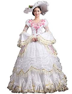 /שמלותחתיכה אחת לוליטה גותי לוליטה קלאסית ומסורתית Steampunk® ויקטוריאני Cosplay שמלות לוליטה פרחוני משורר (מתרחב בסוף) 3/4-אורך שרוול
