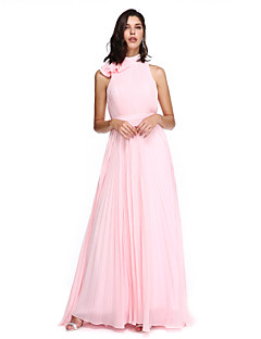 TS Couture® Homecoming / Formal Evening / Holiday Dress - Elegant A-line High Neck Sweep / Brush Train Chiffon withSash / Ribbon / Bow(s)