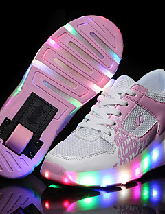 LED Light Up Shoes, Kid Boy Girl Wheely's Roller Shoes / light Single Wheel Skating Shoes / Athletic / Casual Shoes Black Blue Pink