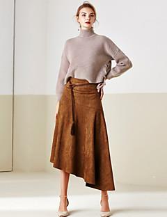 Damen Röcke - Retro / Street Schick Midi Polyester Mikro-elastisch