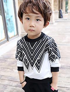 Casual/Dagelijks-Print -Katoen-Herfst-Boy's-Hoodie & Sweatshirt-Zwart