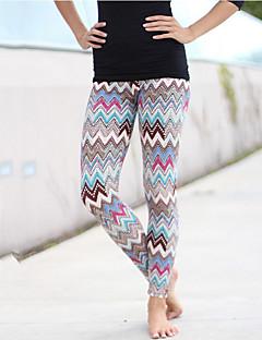 Damer Trykt mønster Tights,Polyester