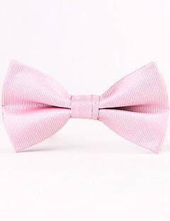 Для мужчин Винтаж / Для вечеринки / Для офиса / На каждый день Бабочка,Хлопок / Смесь хлопка / Полиэстер Однотонный,РозовыйВесна / Лето /
