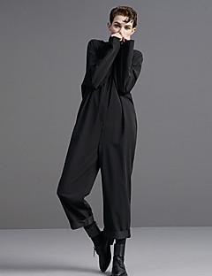 Damen Jumpsuits - Einfach Langarm Polyester / Elasthan Unelastisch