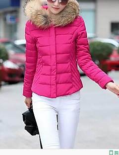 Women's Short Padded CoatSimple Casual/Daily Solid-Cotton / Polyester Polypropylene Long Sleeve
