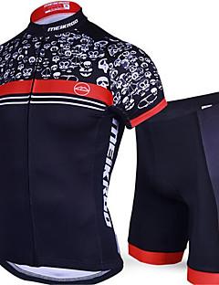 Camisa com Shorts para Ciclismo Homens Manga Curta Moto Conjuntos de Roupas Secagem Rápida Design Anatômico Resistente Raios Ultravioleta