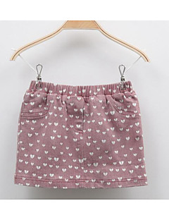 Girl's Casual/Daily Print DressCotton Fall Brown