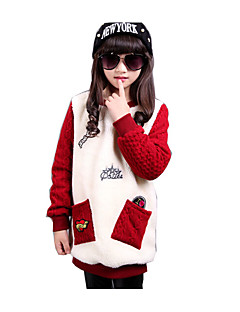 Girl's Casual/Daily Print Hoodie & SweatshirtCotton / Rayon Winter / Spring / Fall Red / Gray