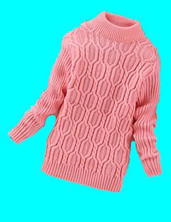 Casual/Dagelijks-Effen-Wol-Winter-Girl's-Trui & Vest-Zwart / Roze / Rood / Grijs