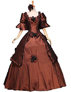 One-Piece/Dress Gothic Lolita / Sweet Lolita / Classic/Traditional Lolita / Punk Lolita Steampunk® / Victorian Cosplay Lolita Dress Brown