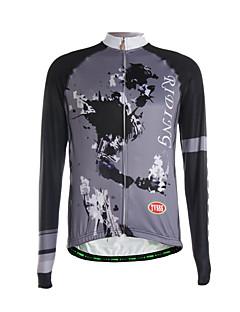 Sportovní Cyklodres Pánské Dlouhé rukávy Jezdit na koleProdyšné / Zahřívací / Rychleschnoucí / Přední zip / Zadní kapsa / Ultra Hafif