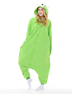 Kigurumi Pyjamas New Cosplay® / Monster Gymnastikanzug/Einteiler Halloween Tiernachtwäsche Grün Patchwork Polar-Fleece Kigurumi Unisex