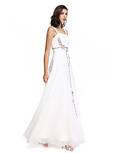 TS Couture® Formal Evening Dress A-line Straps Floor-length Chiffon with Beading