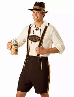 Cosplay Kostýmy Kostým na Večírek Oktoberfest Číšník/Číšnice Kariéra kostýmy Festival/Svátek Halloweenské kostýmy Hnědá TiskKalhoty