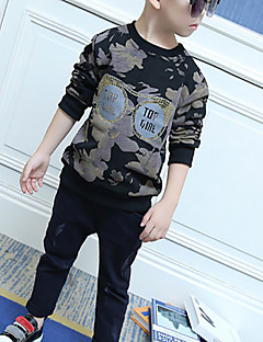 Boy's Casual/Daily Floral Hoodie & SweatshirtCotton Spring / Fall Gray