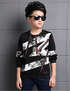Boy's Casual/Daily Print Hoodie & SweatshirtCotton / Rayon Winter / Spring / Fall Black / White