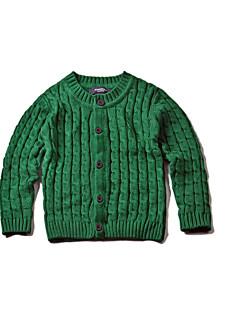 Drengens Trøje og cardigan Bomuld Ensfarvet Casual/hverdag Vinter / Forår / Efterår Blå / Grøn / Orange / Grå
