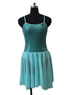 Ballet Dresses Women's / Children's Performance Chiffon Satin / Nylon / Sequined / Lycra Sequins 1 Piece Sleeveless Dress