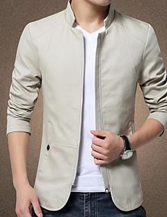 メンズ 日常着 デート 冬 ジャケット,コンテンポラリー スタンド 純色 レギュラー 詳細情報なし 長袖