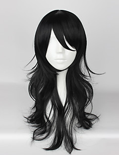 Cosplay Wigs Cosplay Cosplay Black Medium Anime/ Video Games Cosplay Wigs 55 CM Heat Resistant Fiber Unisex