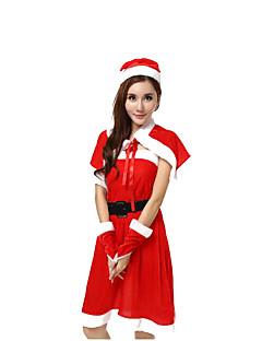 כובעים גלימה תחפושת למסיבה אגדה חליפות סנטה פסטיבל/חג תחפושות ליל כל הקדושים אדום אחיד צעיף כובעים האלווין (ליל כל הקדושים) קרנבל נקבה