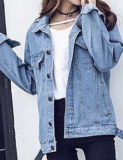 Women's Casual/Daily Denim Jacket