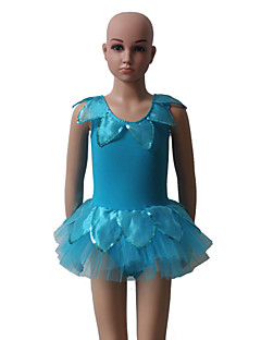 Performance Dresses Women's / Children's Performance Cotton / Tulle / Lycra Flower(s) / Ruffles 1 Piece Sleeveless Tutus