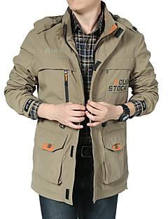 Trilha Anoraques / Jaquetas Softshell / Blusas Homens Respirável / Mantenha Quente / Confortável / Protecção Outono / Inverno Terylene