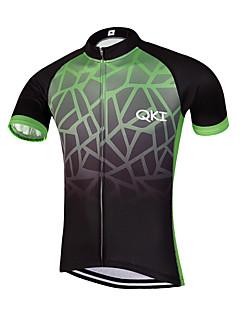 ספורטיבי חולצת ג'רסי לרכיבה לגברים שרוול קצר אופנייםנושם / ייבוש מהיר / עיצוב אנטומי / רוכסן קדמי / תומך זיעה / רצועות מחזירי אור / כיס