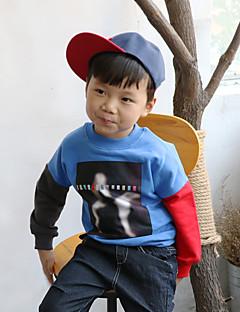 Dreng Hættetrøje og sweatshirt I-byen-tøj Farveblok,Bomuld Vinter Langærmet