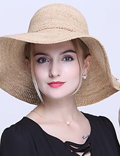 Для женщин Для женщин Винтаж / Для офиса / На каждый день Соломенная шляпа,Соломка,Лето