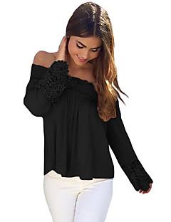 Women's Crochet Lace Long Sleeve Off Shoulder Top