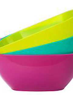 élelmiszer minőségű műanyag szögletes tányér gyümölcs tál sárgadinnye vetőmag kis snack bonbonier gyümölcstál (véletlenszerű szín)