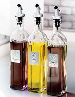 1 PC heiße Balsam Flasche Essig, eine kleine Küche liefert Flasche Gass dicht Steueröltopf Gewürzflasche mit einer Kappe bedeckt