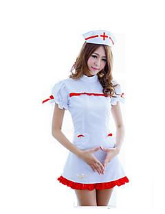 Fantasias de Cosplay Festa a Fantasia Costumes carreira Enfermeiras Festival/Celebração Trajes da Noite das Bruxas Branco Cor Única Saia