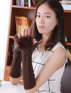 простые нечеткая геометрическая длина локтя трикотажные изделия половина пальца мило / партии / вскользь зимней моды теплые перчатки